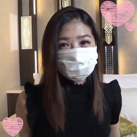 美人はマスク越しでも美人!!美脚!美ボディ 顔出しNGとのことで、マスクを付けての本編スタート!